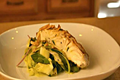 Halibut with Zucchini & Almond Salad