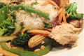 Healthy Orange Chicken Stir-fry with Brown Rice