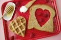 Weelicious's Waffle Heart Sandwiches: Healthy Valentine's Day Desserts