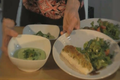 How To Make Herb Crusted Halibut with Chilled Avocado Soup and Green Salad