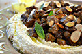 Hummus With Seasoned Meat or Mushrooms