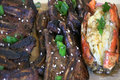 SmokingPit.com - Kalbi Korean Beef Short Ribs and Lobster on the Scottsdale Santa Maria Style Cooker