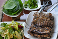 LA Galbi with Ssam Jang / Korean BBQ Beef Ribs / 