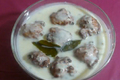 Maharashtrian Yogurt Stew with Deep Fried Flour Dumplings