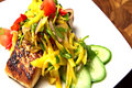 How To Make Halibut With Thai Spicy Mango Salad - Thai Cooking