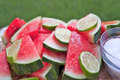 Margarita Soaked Watermelon Slices