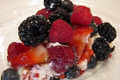 Decadent Mascarpone Cheese Pie with Summer Fruit Topping