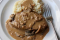 How To Make Meatloaf Cooked In Creamy Mushroom Gravy