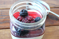 Milk And Honey Panna Cotta With Vanilla Blackberries