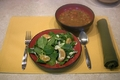 Vegan Minestrone Soup and Citrus Spinach Salad