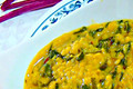 How To Make Moong Dal And Beet Bhaji Curry - Yellow Lentils And Beet Greens Curry