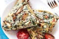 Homemade Spinach and Mushroom Frittata
