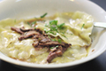 Mushroom Ravioli With Mushroom Sauce
