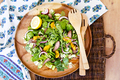 Orange and Honey Steak Salad with Clover Honey Creme Dressing