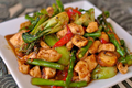 Orange Chicken with Vegetables Stir Fry