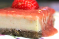 Organic and Vegan Strawberry Cheesecake