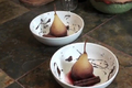 Organic Red Wine Poached Pears