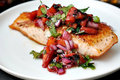 Pan Grilled Salmon With Spicy Fruit Salsa