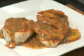 Pan Seared Chicken with Peach and Chive Pan Gravy