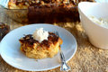 Panettone Bread Pudding with Rum Hard Sauce