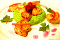 How To Make Pea Puree With Shrimp, Scallops &amp; Bacon