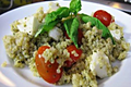How To Make Gluten Free Pesto Quinoa With Tomatoes And Mozzarella
