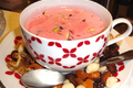 How To Make Pink Fruit Cup