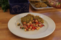Pistachio Encrusted Chicken with Strawberry Cucumber Salsa