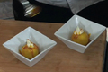 Saffron Poached Apples with Maple Mascarpone