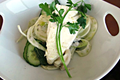 How To Make Poached Halibut With Fennel Cucumber Mint Salad