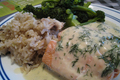 How To Make Poached Salmon With Tarragon Cream Sauce