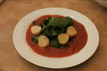 How To Make Spicy Salad With Poached Scallops