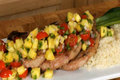 How To Make Roasted Pork Chops With Tropical Salsa And Jasmine Rice
