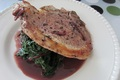 Pork Chops with Red Wine Sauce and Winter Greens Recipe Video