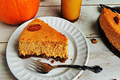 Reduced Calorie Pumpkin Cheesecake & Gingersnap Crust