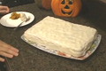 How To Make Pumpkin Cake With Cream Cheese Icing Part 2 - Baking The Cake And Decorating With Icing