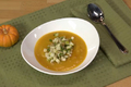 Apple Walnut Topped Pumpkin Soup