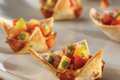 Quesadilla Cups with Nectarine Salsa