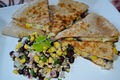 Salmon Black Bean Quesadillas