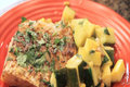 Quick Indian Spiced Fish with Sautéed Summer Vegetables