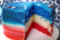 How To Make Red White & Blue Cake