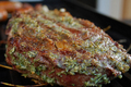 Marinated Rib Steaks with Garlic Parsley Butter