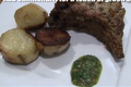 Roasted Pork Rib with Baked Potatoes