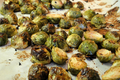 Roasted Brussels Sprouts with Shallots and Balsamic Vinegar