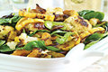 How To Make Roasted Cauliflower & Delicata Squash With Baby Spinach