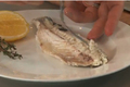 Salt and Egg Crusted Baked Bronzini
