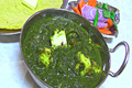 Sarson Ka Saag With Paneer - Mustard Spinach Curry With Indian Cheese