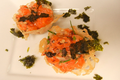Sassy Salmon Mixture in Parmesan Crisp Cups 