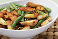 Sauted Haricots Verts with Baby Red Potatoes and Lemon Zest