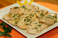 Veal cutlets with parsley